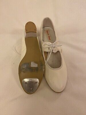 Ivory Laced Dance Gear Tap Shoes Size 7 • 5£