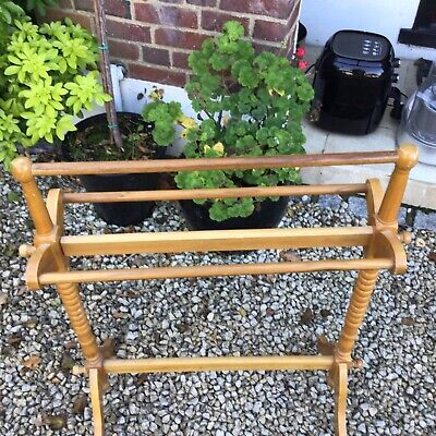 Used Wooden Towel/Cloths Rail Free Standing Cash On Collection • 2£