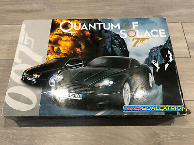 Micro Scalextric 007 James Bond Quantum Of Solace 1:64 Complete Track & 2 Cars • 29£
