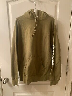 $ CDN285.45 • Buy Supreme Sleeve Patch Box Logo Hoodie Olive Size XL Pre Owned Great Conditon