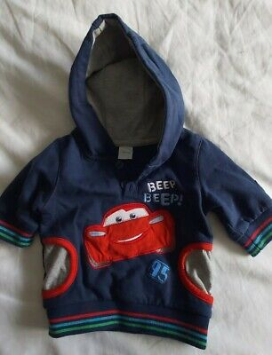 DISNEY Cars 0-3 Months Boys Jumper Hoodie Top • 0.99£