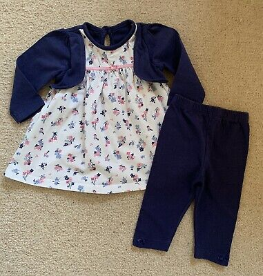 Girls Top And Leggings Set Age 0-3 Months • 0.99£