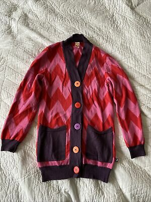 Katvig Colourful Cardigan EU122 Aged Approx 7-9 Years Wool Blend • 4.99£