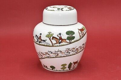 Crown Staffordshire Hunting Scenes Large 7 Inch Ginger Jar (Coalport Wedgwood) • 59.99£