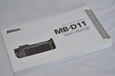 NIKON MB-D11 Multi Power Battery Pack For D7000 User's Manual In 32 Language NEW • 4.99£