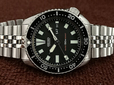 $ CDN87.71 • Buy Vintage Seiko Diver 6309-7290 Black Face Mod Automatic Men Watch 705536
