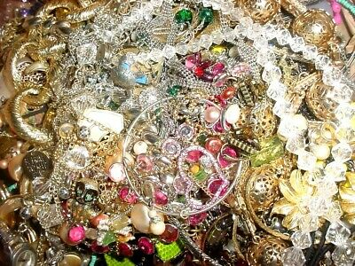 $ CDN15.67 • Buy Jewelry Vintage Modern Huge Lot Junk Craft Big Box FULL 2 - 3 Pounds Unsearched