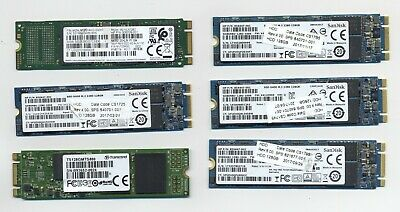 $ CDN104.73 • Buy Lot X6 128GB SATA-III Solid State Drives M.2 2280 SanDisk Samsung Transcend SSD
