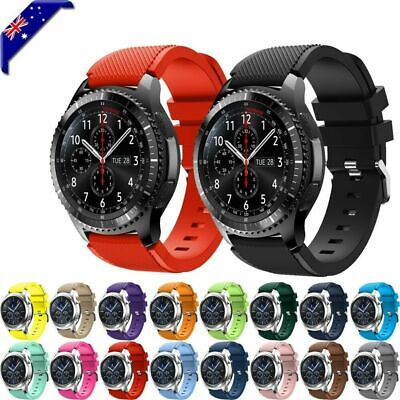 AU6.75 • Buy For Samsung Galaxy Watch 3 46mm Watch S3 Silicone Replacement Strap Wrist Band