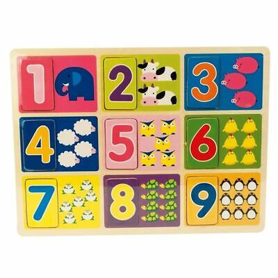£6.99 • Buy Baby Toddler NUMBERS Wooden Jigsaw Puzzles Pre School Kids Educational Toys Gift