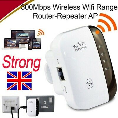 UK Standard WiFi Signal Repeater Extender Range Booster Network Amplifier White • 15.99£