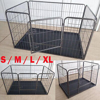 Heavy Duty Puppy Play Pen Dog Crate Whelping Box Rabbit Enclosure Cage Inc Floor • 64.90£