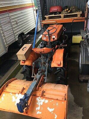 AU5500 • Buy Kubota B6000 Tractor With 3 Foot Rotary Hoe 4wd Pto Driven Excellent Condition