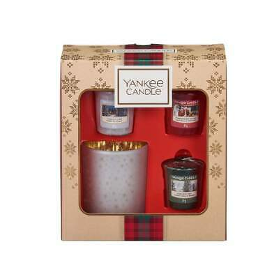 Christmas Yankee Candle Alpine Three Candle And Holder Gift Set Present Xmas  • 12£