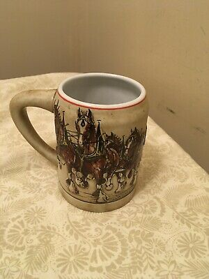 $ CDN19.60 • Buy 1980 Budweiser Clydesdales Stein Beer Mug Ceramarte First Holiday Series Great!