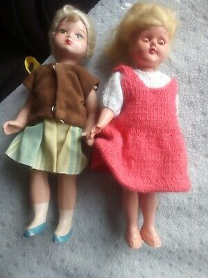 Roddy Doll + Vintage Bisque Doll  Both Hand Painted L@@K • 12.99£