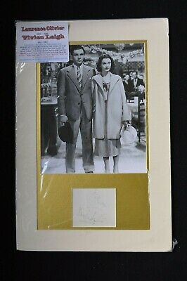 Laurence Olivier & Vivien Leigh Autographs With Photo, Mounted Signed Original) • 99.95£