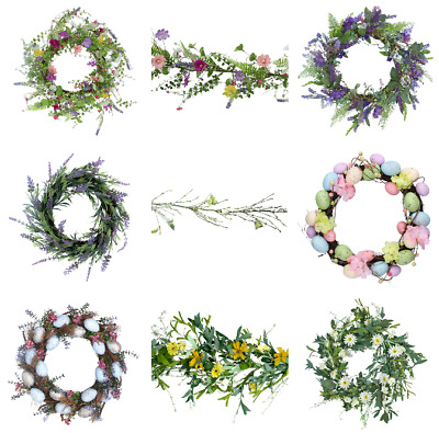 Gisela Graham Wreath Garland Easter Egg Floral Table Decoration Speckled Eggs • 19.96£