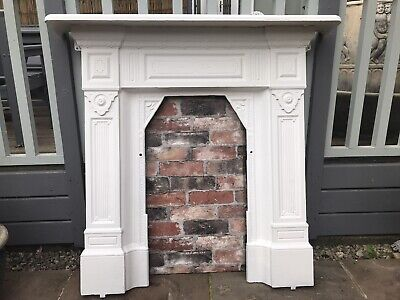 Cast Iron Victorian Fireplace ( LARGE ) • 199£