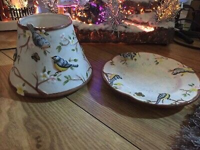 Yankee Candle Very Rare Large Bluebird Shade And Tray Set • 25£