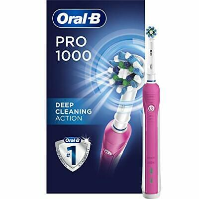 AU76.39 • Buy Pro 1000 CrossAction Electric Toothbrush, Pink, Powered