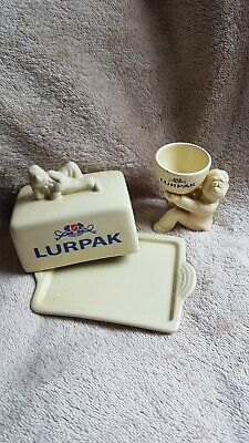 Lurpak Butter Dish And Egg Cup • 15£