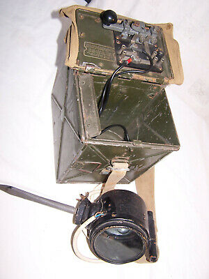 Vintage Rare Ww2 Army Lucas Lamp Signalling Daylight Short Range With Morse Key • 105£