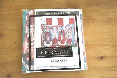 New Rare Retired Needlepoint Tapestry Kit By Ehrman Sneakers By Sarah Haigh • 35£