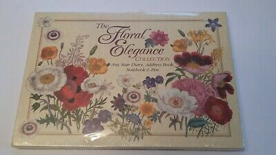 The Floral Elegance Collection - Any Year Diary, Address Book, Notebook And Pen  • 19.99£