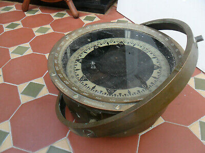 Antique W. Ludolph Bremerhaven Hamburg Ships Compass Solid Brass-Collect • 200£