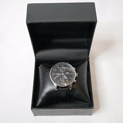 IWC Portuguese Chronograph Watch Remake With Leather Strap And Box • 124£