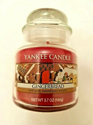 Yankee Candle Small Jar 'Gingerbread' 104g S. Deerfield MA USA Label • 18.99£