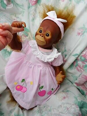 Reborn Monkey Baby Girl Orangutan Bindy 3lb11 17  JosyNN BABY BUT NOT A BABY FUN • 125£