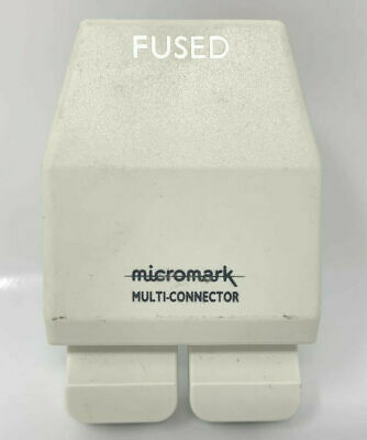Micromark Multi Connector 2 Way Extension Block By Conblock With 2 Plugs VINTAGE • 9.99£