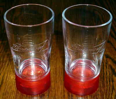 $ CDN26.17 • Buy Budweiser Game Goal Synced Red Light Glasses - Set Of 2