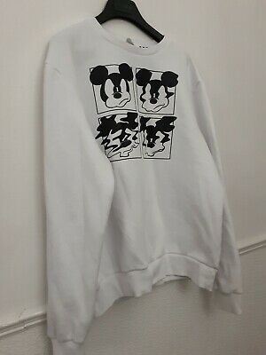 £10.62 • Buy Disney Mickey Mouse Sweatshirt (Large) White Official Disney By Primark Unisex