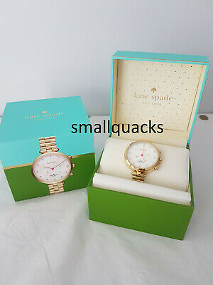 $ CDN127.75 • Buy KATE SPADE Holland Hybrid Watch Gold Tone Steel Bracelet Working Excellent Cond