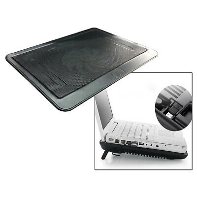 Laptop Cooler Mat Quiet Gaming Cooling Pad Stand Tray USB Powered Bracket • 12.39£