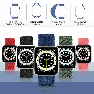 AU17.99 • Buy Braided Nylon Band Solo Loop Strap For IWatch Apple Watch Series 6 5 4 3 2 1 SE