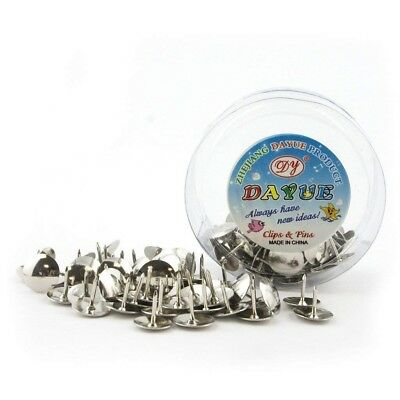 H0341 Drawing Pins Round Silver Colour - 2 Boxes (50 A Box) • 0.99£