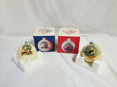$ CDN5.24 • Buy Vintage Norman Rockwell Christmas Ornaments Lot Of 2- 1977, 1995 In Original Box