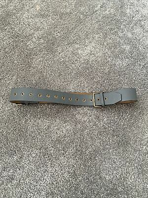 Ladies Grey Burberry Leather Belt Size 34 • 50£
