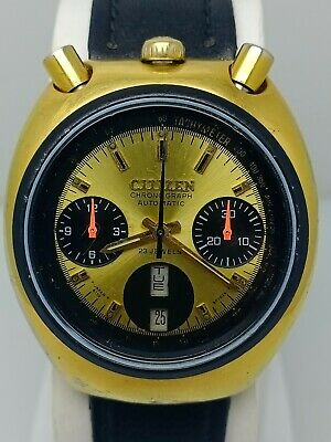 $ CDN1.63 • Buy Vintage Citizen Chronograph Bullhead 67-9020 Automatic 8110A Men's Wristwatch