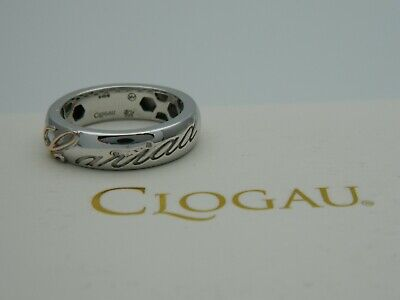 Clogau Sterling Silver & 9ct Rose Gold Cariad Ring RRP £119.00 Size S • 69.95£
