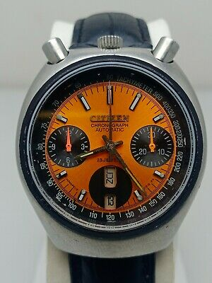 $ CDN66.47 • Buy Vintage Citizen Bullhead Chronograph 67-9011 Automatic Watch
