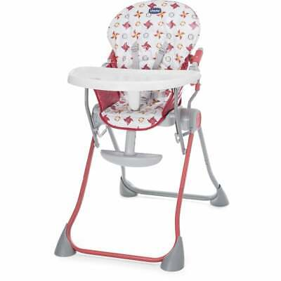 Chicco Pocket Meal Highchair - Red Wave - Baby Highchair - Ex Display • 47£