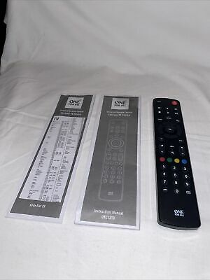 Universal Remote Control - One For All - Contour TV Device - URC1210. New • 6.99£