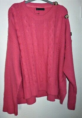 Womens Long Sleeved Slouchy Deep Pink Cable-knit Alpaca Blend Jumper By M&S 24 • 8£