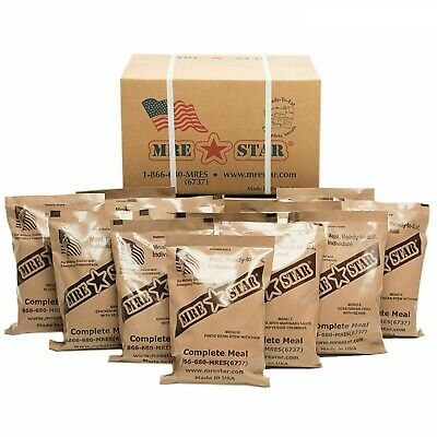 $129.99 • Buy US Military MRE Meal Ready To Eat 12 Meals Fresh Dates Emergency Food Survival