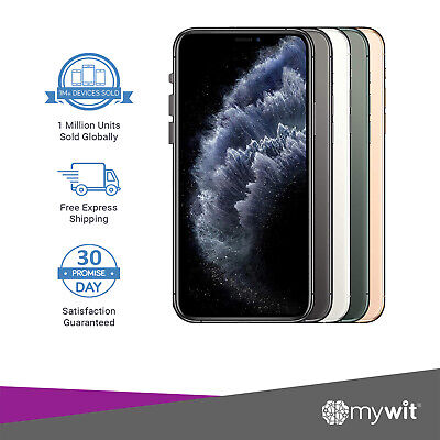 AU1129 • Buy Apple IPhone 11 Pro Max A2218 - 64 256 512GB Silver Grey Gold Green